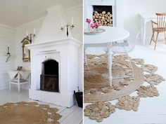 I've developed a minor obsession with these handcrafted woven hemp rugs from Australian company Armadillo & Co. Each circular rug, made under fairtrade work conditions and made from soft Bangladeshi hemp, is centered around a floral motif. They have so much potential to tie a room together -