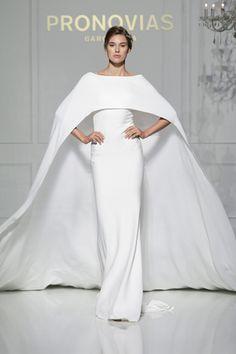 pronovias 2016 bridal gowns bateau neckline chic sheath wedding dress with cape style verona 2016 Wedding Dresses, Wedding Dress Trends, Gorgeous Wedding Dress, Wedding Attire, Beautiful Gowns, Bridal Dresses, Wedding Gowns, Bridesmaid Dresses, Dresses 2014