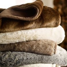 Love faux fur throw blankets. Don't need to be from pottery barn, their pretty easily found anywhere.