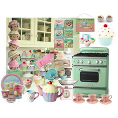 Cupcake Kitchen, created by #teenagewonderer on #polyvore. interior design