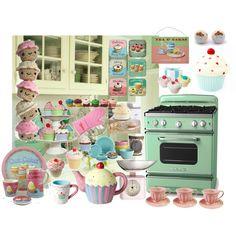 Cupcake Kitchen, created by #teenagewonderer on #polyvore. interior design