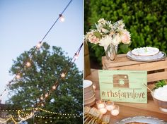 Perfect wedding hashtag sign for a rustic wedding! {Katelyn James Photography}