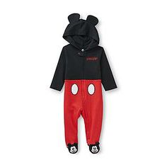 Disney- -Infant Boy's Hooded Sleeper - Mickey Mouse