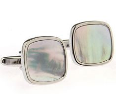 Mother of Pearl in Silver Soft Square,guitar cufflinks Wedding Jewelry, Mirrored Sunglasses, Wedding Cufflinks, Pearls, Silver, Career, Guitar, Fashion, Moda