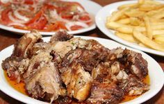 Receitas de Portugal: FRANGO ASSADO Á GUIA Portuguese Recipes, Portuguese Food, Poultry, Entrees, Chicken Recipes, Good Food, Pork, Food And Drink, Turkey
