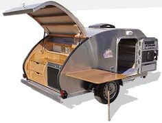 How cute it that! If I ever get a camping trailer ... I want this one! Tear Drop Trailer!