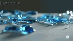 Bloblets of crystal blue water