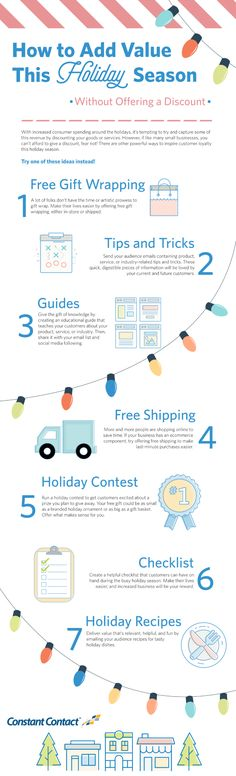 If you want to run a successful holiday promotion, without discounting your product, consider one of these 7 ideas. Marketing Software, Online Marketing, Digital Marketing, Marketing Ideas, Marketing Tools, Content Marketing, Email Campaign, Business Advice, Pinterest Marketing