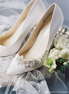 Jasmine - Floral Beading Ivory Wedding Pumps A fresh and feminine take on a classic ivory wedding pump! Teardrop pearls and ivory beads are embellished in the shape of flowers and vines makes this an understated yet elegant heel for any bride. Wedding Pumps, Wedding Shoes Heels, Bride Shoes, Vintage Wedding Shoes, Designer Wedding Shoes, Wedding Dress Trends, Wedding Ideas, Wedding Table, Wedding Details