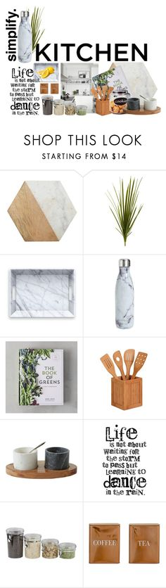 """Kitchen essentials"" by solespejismo on Polyvore featuring interior, interiors, interior design, home, home decor, interior decorating, Jayson Home, Nearly Natural, S'well and Honey-Can-Do"