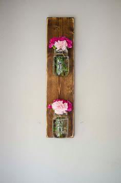 Vertical Mason Jar Wall panter / Mason Jar Wall by IndustrialCO