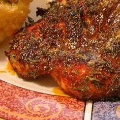 Baked Spiced Chicken - absolutely delicious - this is my go-to spice mix for baking chicken. Baked Jerk Chicken, Baked Chicken Tenders, Baked Chicken Recipes, Great Recipes, Favorite Recipes, Best Oven, Chicken Spices, Dinner Is Served, Family Meals