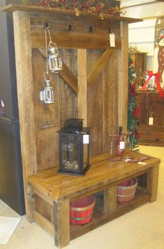 reclaimed wood railings | Customized barn wood furniture | Fence Row Furniture