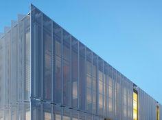 Leawood Speculative Office, Kansas City ,office building, perforated metal screens, minimize solar gain, solar gain, metal facade, green architecture, solar design, El Dorado