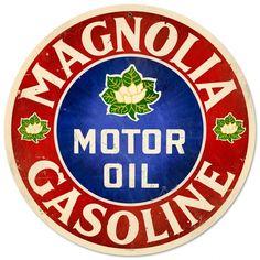 Old Magnolia Oil sign.  I love it!