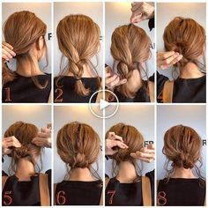 Haircuts For Wavy Curly Hair - Hair Styles Curly Hair Styles, Haircuts For Curly Hair, Short Hair Updo, Medium Hair Styles, Easy Updos For Medium Hair, Medium Length Hair Updos, Medium Hair Updo, Simple Hair Updos, Hairstyle Tutorials