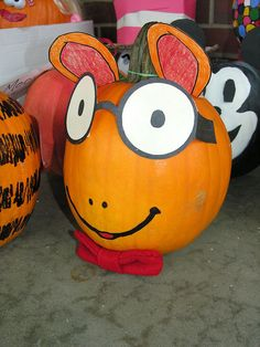 Pumpkin book character, Arthur  Umm...new station at Halloween Carnival?! I think so.  #halloweencarnival #boothidea4