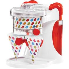 Gift Idea: Jelly Belly Dual Ice Shaver would love to make snow cones at my own summer party! Slurpee, Slushies, Specialty Appliances, Kitchen Appliances, Ice Shavers, Cup With Straw, Snow Cones, Jelly Belly, Ice Cream Maker