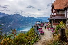 Harder Kulm | Interlaken Switzerland, Places Ive Been, Wonderland, Landscapes, Tours, Cabin, Mountains, House Styles, Brown