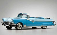 1956 Ford Fairlane Sunliner Convertible #ClassicCars #Ford #CTins
