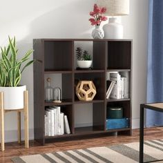 Andover Mills™ Ryker Standard Bookcase & Reviews | Wayfair Cube Bookcase, Cube Shelves, Etagere Bookcase, Cube Storage, Bookcases, Small Bookcase, Storage Ideas, Shelf, Living Room Furniture