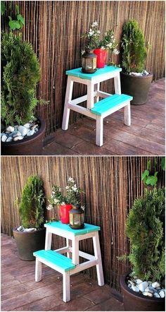 pallet garden decor table