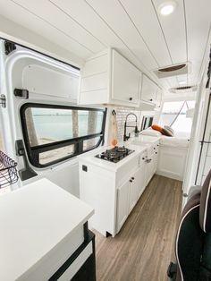 Our Van Quest Van Conversion Interior, Camper Van Conversion Diy, Van Interior, Diy Van Conversions, Build A Camper Van, Kombi Home, Caravan Renovation, Van Home, Van Living