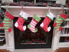 stockings and jingle bell initials