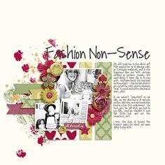 Fashion Non-Sense #scrapbook #digiscrap