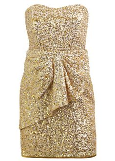 Every Girl Needs A Sparkly Gold Dress