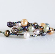 Pearl Necklace With Sterling Silver Clasp by JacarandaDesigns, $47.00