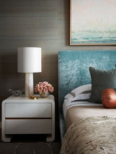 Downtown Manhattan Residence - Drake/Anderson Residential Interior Design, Headboard And Footboard, Upholstered Sofa, Center Table, Elle Decor, Great Rooms, Drake, Manhattan, Home