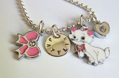 Kitty - Kitty Cat - Kitty Necklace - Cat - Cat Jewelry - Aristocats - Marie - Personalized Necklace - Childrens Jewelry - Little Girls. $20.00, via Etsy.