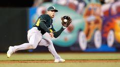 Third baseman Brett Lawrie Oakland Athletics
