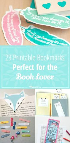 23 Printable Bookmarks Perfect for the Book Lover! via @tipjunkie
