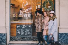 Gal Meets Glam Winter Guide To Paris - Julia's coat is Dior & Zara faux fur wrap