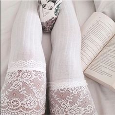 White Lace Knee High Socks Brand new Accessories Hosiery & Socks