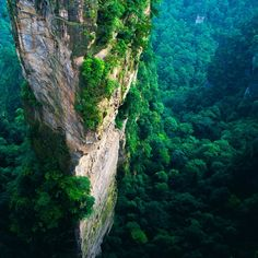 Nature Tall Mountain Cliff Forest Scenery #Retina #iPad #Air #wallpaper