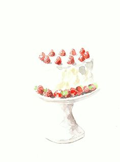 Watercolor Cake Clip Art : Watercolor on Pinterest Watercolor Print, Clip Art and ...