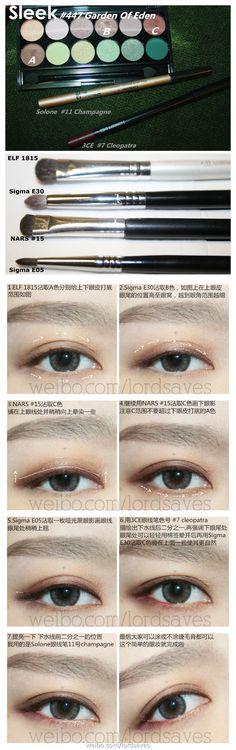 Sleek makeup Garden of Eden asian eyeshadow tutorial Asian Makeup Tutorials, Korean Makeup Tips, Beauty Tutorials, Beauty Ideas, Beauty Tips, Asian Makeup Looks, Asian Eye Makeup, Asian Eyeshadow, Korean Wedding Makeup