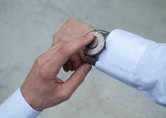 A tactile watch designed for blind people