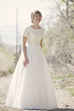 Audrey Hepburn wedding dress- simple and classic
