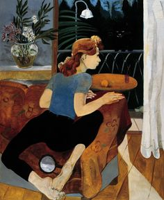 'Alacakaranlık' (Twilight) (2010) by Turkish artist Neş'e Erdok (b.1940). Oil on canvas, 180 x 140 cm. via the artist's site