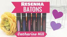 Resenha: Batons Líquido Matte Catharine Hill |Por Jacky Coutinho