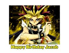 YuGiOh Edible Image Manga Yugioh Yu Gi Oh Photo Sugar Frosting Icing Cake Topper Sheet Personalized Custom Customized Birthday Party  14 Sheet  76178 ** Click image to review more details.