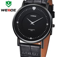 New Ultra Thin Solid Stainless Steel 2015 WEIDE Ronda Quartz