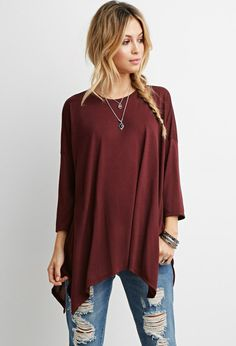 Drapey Trapeze Tee | Forever 21 - 2000145398