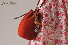 Shoulder bag made of suede for BJD by EveForDolls on Etsy