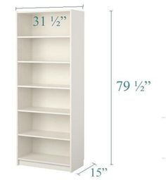 15 inch deep billy bookcase: tutorial changing them into built-ins. So helpful! White Bookshelves, Bookcase Wall, Built In Bookcase, Cheap Bookshelves, Simple Bookshelf, White Shelves, Billy Ikea, Ikea Billy Bookcase, Vanities