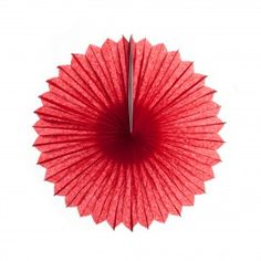 Red Decorative Paper Pinwheel Tissue Fans